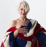 Helen Mirren wrapped in red, white & blue