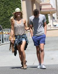 Bar Refaeli spending the afternoon with family in L.A. June 9,